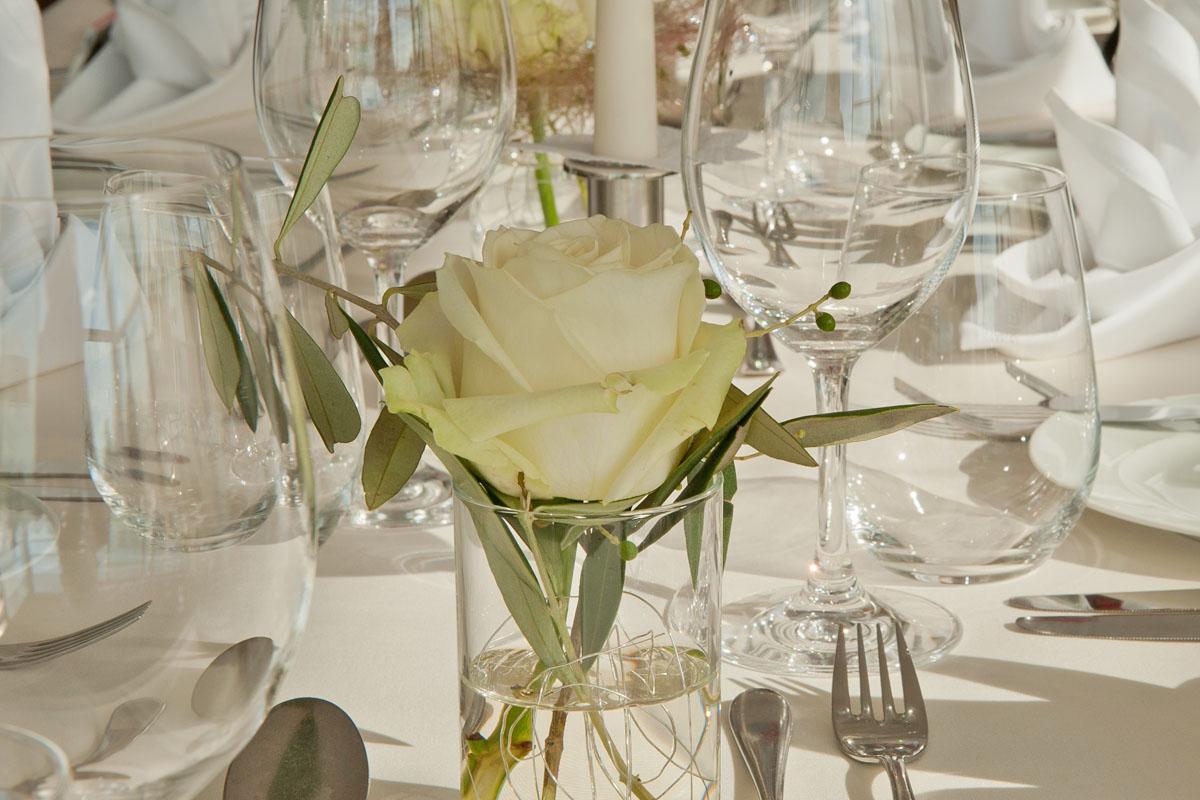 Detailfoto auf dem Hochzeitsfest