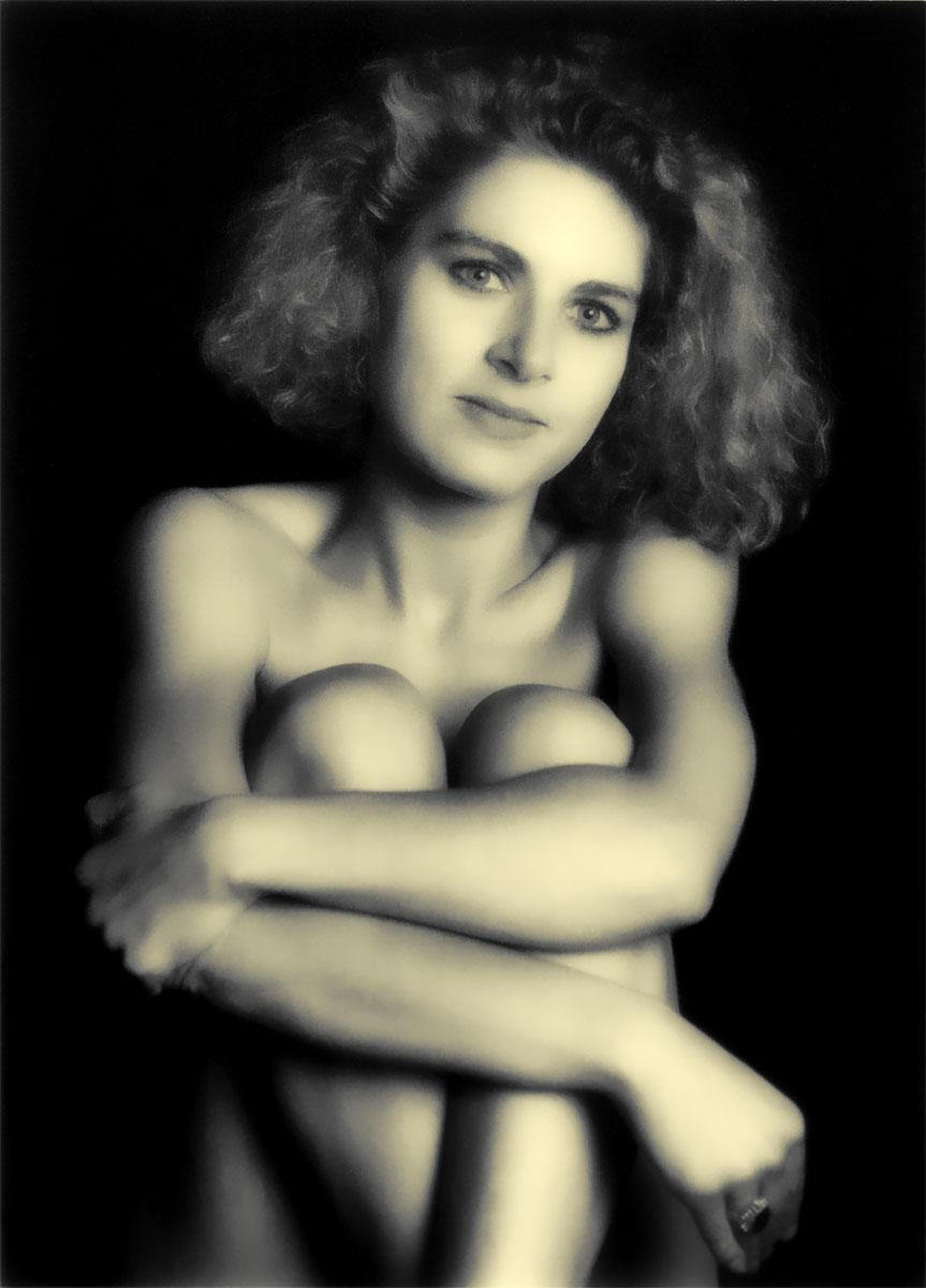 Frauenportrait im Sepiaton